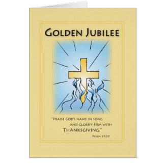 2680 Golden Jubilee Blue with Cross Card
