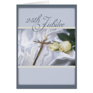 2684   25th Jubilee Cross & Roses Cards