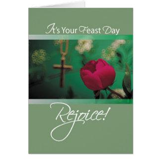 2686 Feast Day Rejoice Card