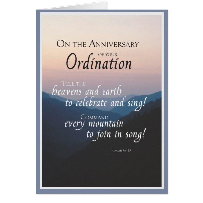 2687 Anniversary of Ordination Card