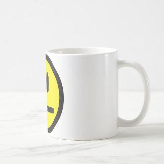 2697 QUIET YELLOW EMOTICON SMILIE SILENCE UNIMPRES COFFEE MUG