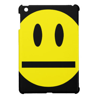 2697 QUIET YELLOW EMOTICON SMILIE SILENCE UNIMPRES COVER FOR THE iPad MINI