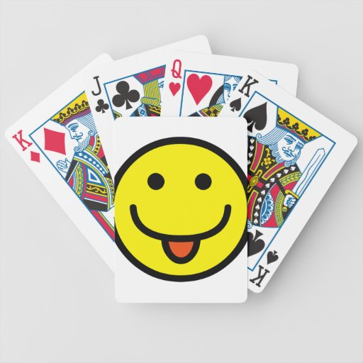 2698-Royalty-Free-Single-Emoticon-Tongue-Out HAPPY Bicycle Card Decks