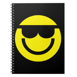 2699-Royalty-Free-Emoticon-With-Sunglasses COOL DU Spiral Notebook