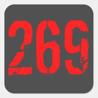 269 life pegatina cuadradas personalizadas