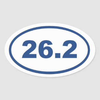26,2 Azul Pegatina Ovalada