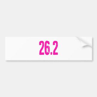 26.2 CAR BUMPER STICKER