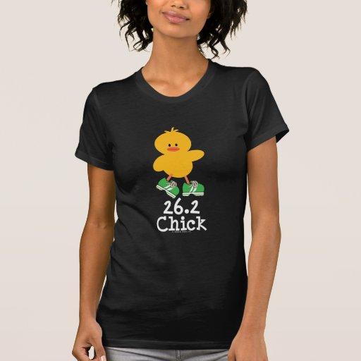 26,2 Camiseta del polluelo Remeras