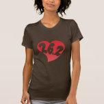 26,2 Corazón Camisetas