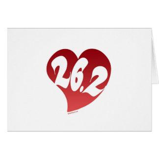 26,2 Corazón Tarjeta De Felicitación