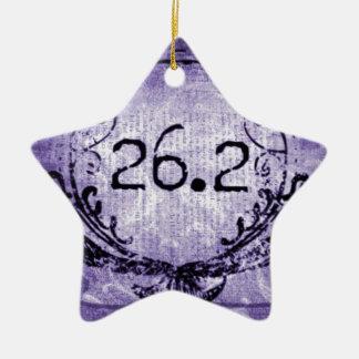 26.2 Crest Purple Ceramic Ornament