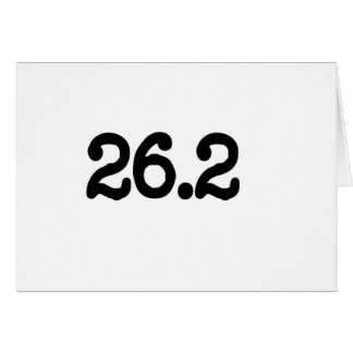 26,2 Definición del maratón Tarjetón
