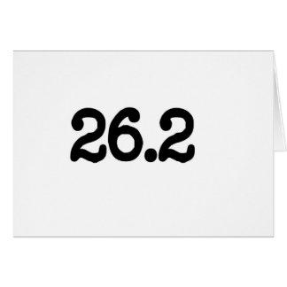 26,2 Definición del maratón Tarjeta De Felicitación