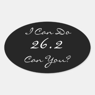 26,2 El pegatina del corredor de maratón