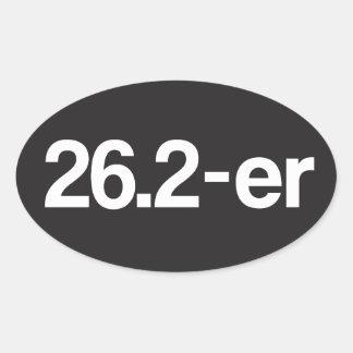26,2 er o Marathoner - corredores de maratón Pegatina Ovalada