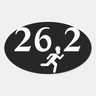 26,2 Funcionamiento del maratón Calcomania Oval Personalizadas