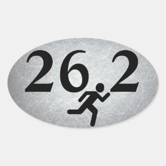 26,2 Funcionamiento del maratón Pegatina Ovalada