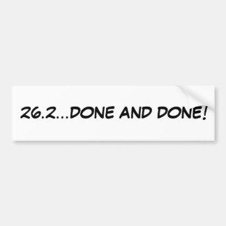 ¡26,2… HECHOS Y HECHOS! pegatina para el parachoqu Etiqueta De Parachoque