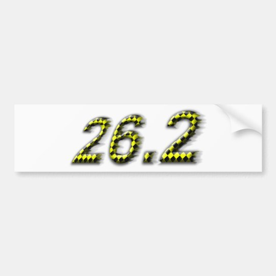 26.2  Just try to keep up! Bumper Sticker