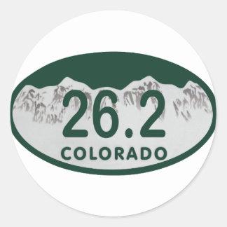 26.2 License oval Classic Round Sticker