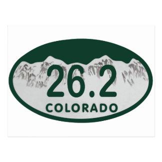 26.2 License oval Postcard