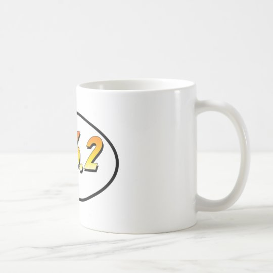 "26.2 Marathon ""Adventurer"" Oval Coffee Mug"