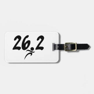 26.2 marathon bag tag
