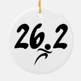 26.2 marathon ceramic ornament