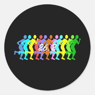 26.2 marathon classic round sticker