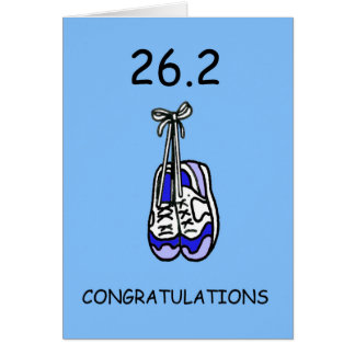 26.2 Marathon Congratulations for male. Card