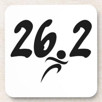 26.2 marathon beverage coasters