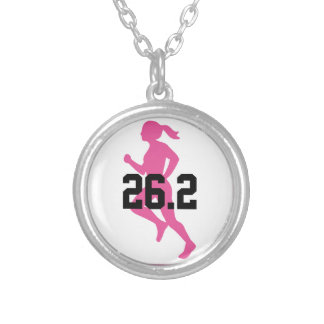 26.2 Marathon Girl Silver Plated Necklace