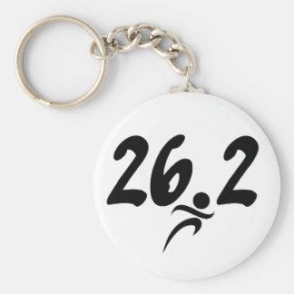 26.2 marathon keychain