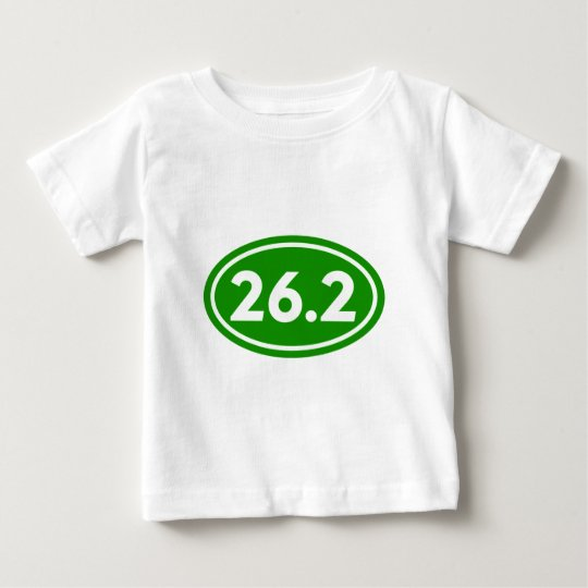 26.2 Marathon Oval Green (#GEO4) Baby T-Shirt
