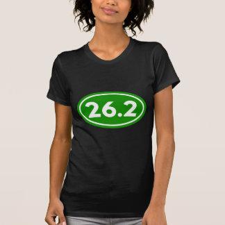26.2 Marathon Oval Green (#GEO4) Tee Shirts