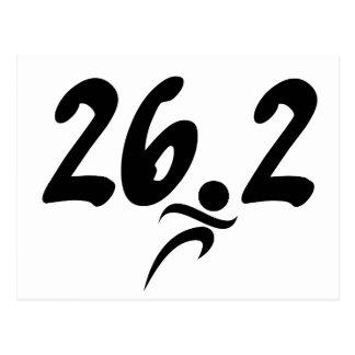 26.2 marathon postcard