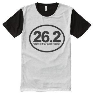 26.2 Marathon Runner All-Over Print Shirt