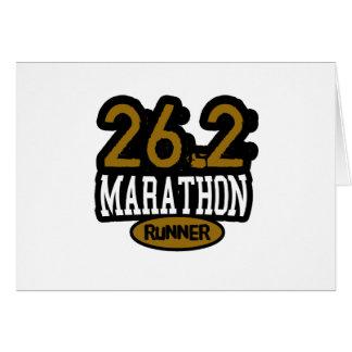 26.2 Marathon Runner Card