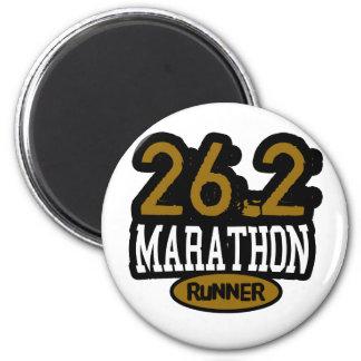26.2 Marathon Runner Fridge Magnet