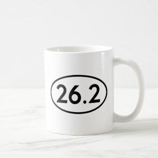 26.2 Marathon Runner Oval (#GEO7) Classic White Coffee Mug