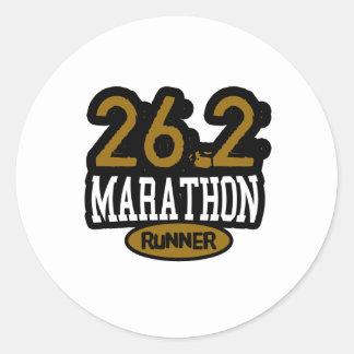 26.2 Marathon Runner Sticker