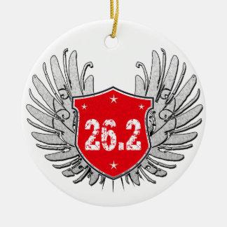 26.2 Marathon Shield Ceramic Ornament