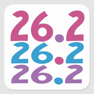 26.2 marathoner - Marathon Runner Square Sticker