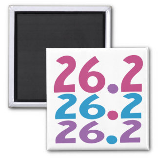 26.2 marathoner - Marathon Running themed Magnet
