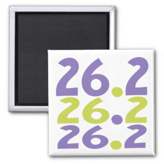 26.2 marathoner - Marathon Running themed 2 Inch Square Magnet