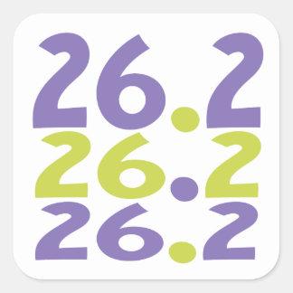 26.2 marathoner square sticker