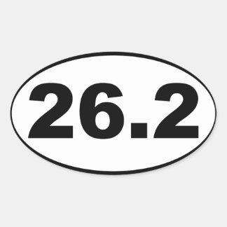 26,2 Maratón Pegatina Ovalada