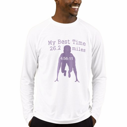 26 2 mile marathon custom my best time t shirt zazzle for Best custom t shirt
