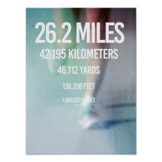 26-2 Mile Measurements -   Running Fitness -.png Poster