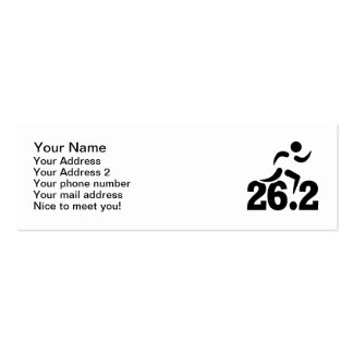 26.2 miles marathon Double-Sided mini business cards (Pack of 20)